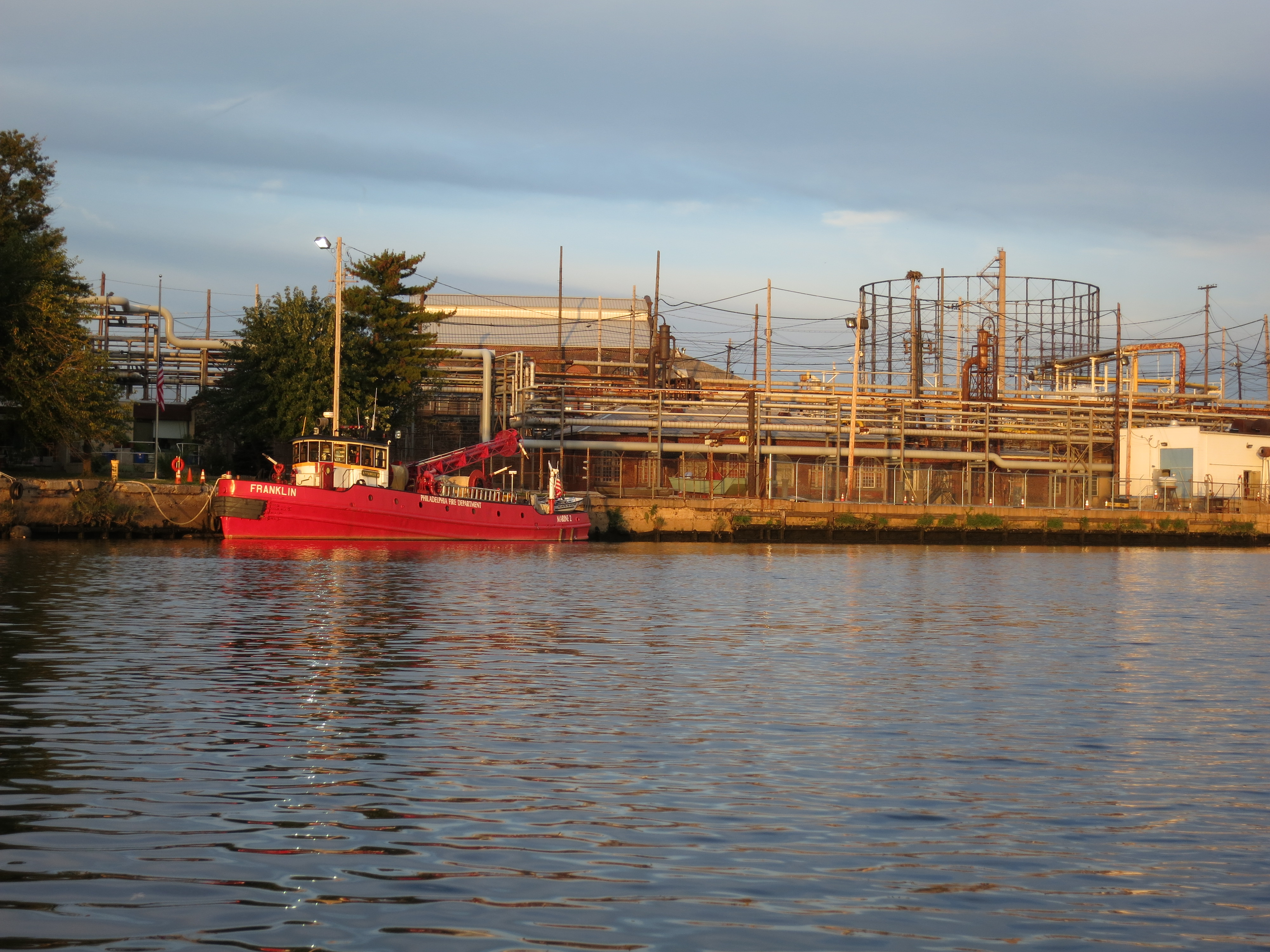 Franklin fire boat PGW cage pipelines.JPG