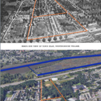 Comparison of 1918 sketch of Westinghouse Village to present day